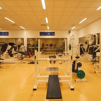Sportzaal - 'benchpresses'
